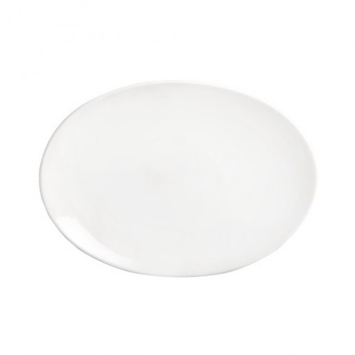 "Assiette ovale coupe 14""x10"" Imperial White (1dz/cs)"