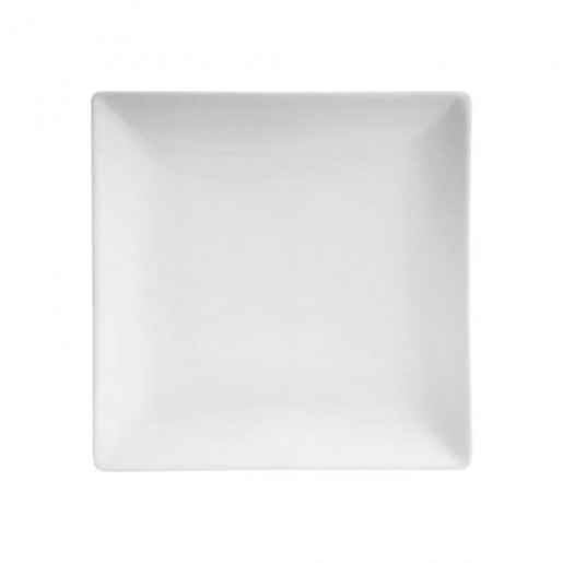 "Assiete carrée sans bordure 10"" Square no rim (1dz/cs)"
