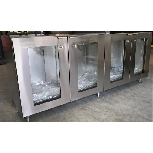 Back bar 96x24x40½in no compressor glass doors