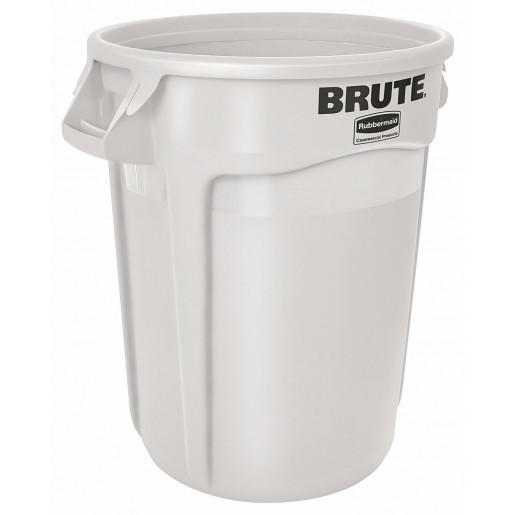 Brute container without lid white 10GAL