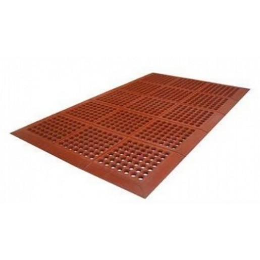 Anti-fatigue mat red 3'x5'x½""