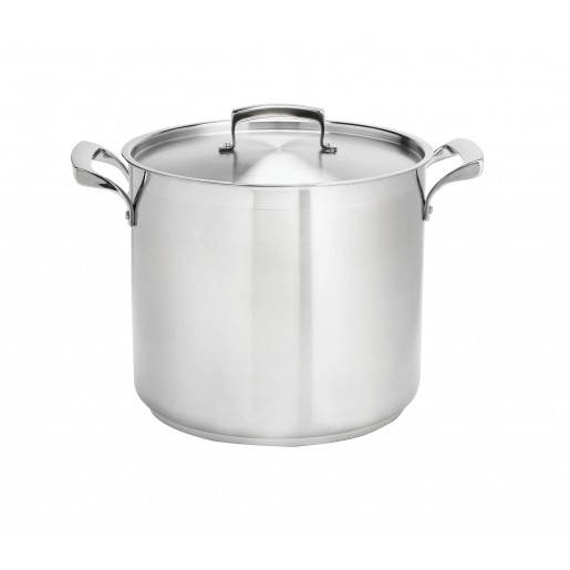 Deep stock pot stainless  9.6L Thermalloy