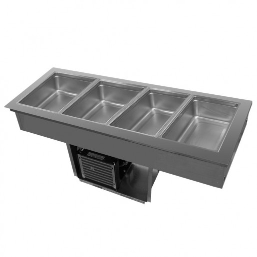 "4 refrigerated pans drop-in 58""x25"""