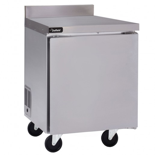 worktable freezer  32'' and backsplash 4'' & 1 door