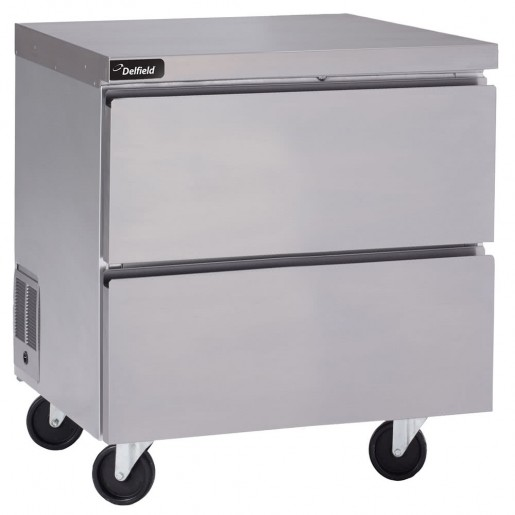 "Undercounter worktable freezer 32"" with drawers"