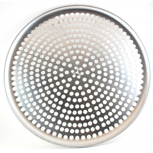 Perforated rigid aluminium pizza pan 14""