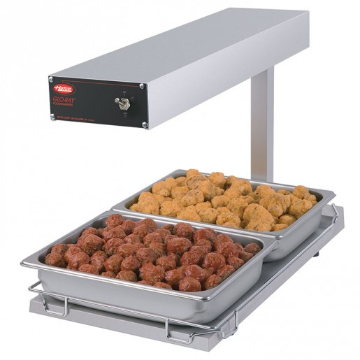Portable infra-red foodwarmer with heated base 750W/120V