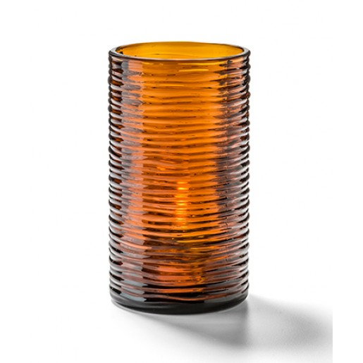 "Cylinder lamp dark amber 5""x2-5/8"" Typhoon"