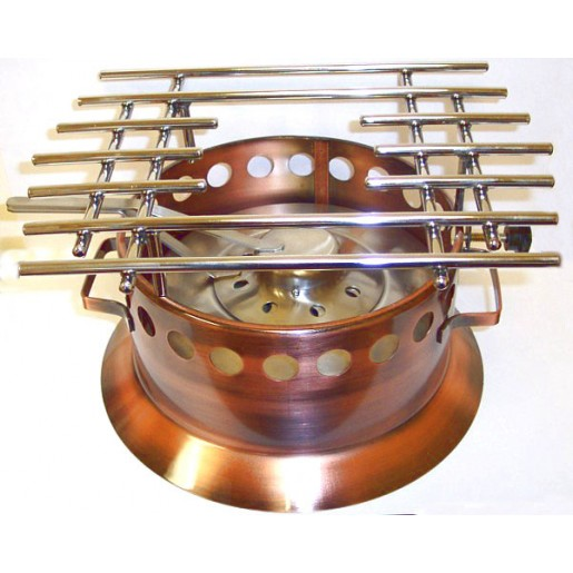 Copper rechaud with stainless steel burner